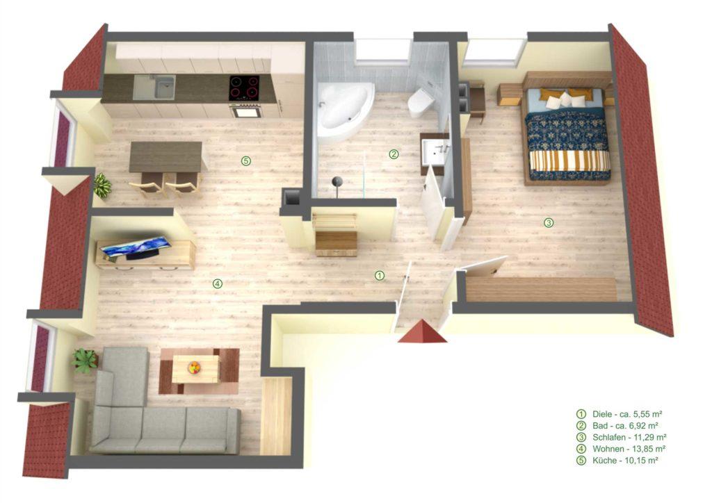 Wohnungsplan Innen Computer